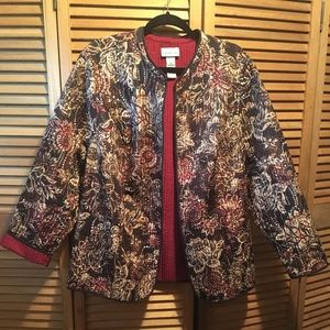 Catherines Earth Tone Colors Quilted Jacket